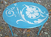 Decorated furniture, painted freehand by Kate Chitham